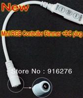 12V 6A 3 Keys Mini RGB Controller Dimmer +DC plug for 5050 3528 RGB LED Strip Light 19 Dynamic Modes and 20 Static Color