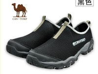 Gauze breathable outdoor hiking off-road running shoes male casual low