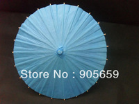 (500 pcs/lot) Handmade 15.7'' Solid Blue Color Paper Advertising Parasols