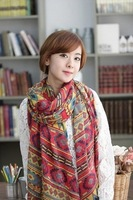 Free shipping Korean style wrinkle fold scarf scarves candy color elegant cotton linen scarf shawl