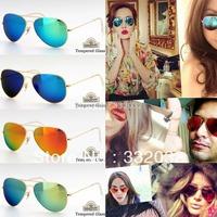 Wholesale sunglasses FM Glasses brand men 2014NEW Glasses women sunglasses and Tempered Glass sunglass rays oil rig sunglasses