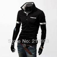 Free Shipping Men's Shirt Casual Slim Fit Stylish Short-Sleeve Shirts Cotton Men's T-shirt