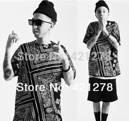 La rhude bandana ktz flowerscashew 2014 fashion brand designer HARAJUKU short sleeve t shirts men tops tee 3 colors 5XL(China (Mainland))