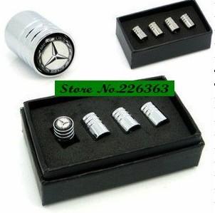 Free Shipping Chrome Metal Wheel Tire Valve Caps Stem Air For  C E S M GL GLK AMG #1
