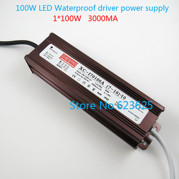 high quality 100W 3000mA LED driver power supply   LED waterproof power supply( 10 series 10 parallel)