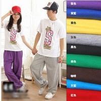 Free Shipping 2014 Newest Fashion Loose Women's Yoga Pants Men's Long Leisure Pants Cheap Ladies' Yoga Trousers Hot Gift