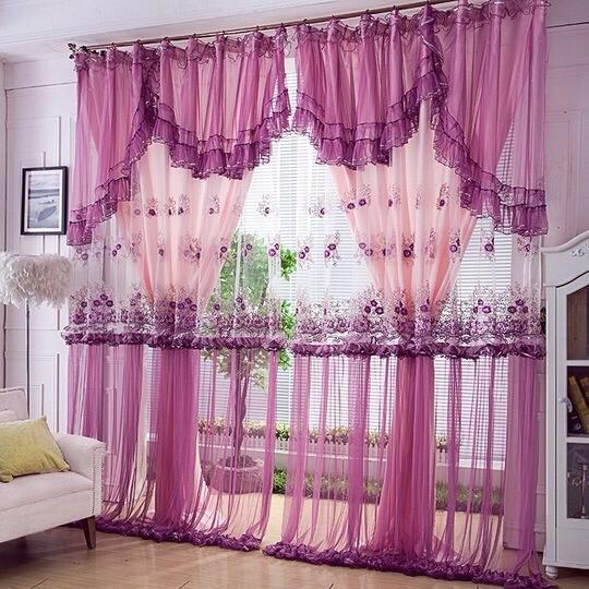 chambre sol chambre rideaux personnalisée violet princesse, salle