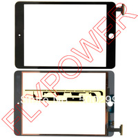 For iPad mini Touch screen Digitizer with free sticker by free shipping Black color; 100% warranty