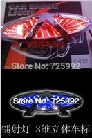 Free shipping 3D laser logo decorative lights  car badge LED lamp ghost shadow light car emblem