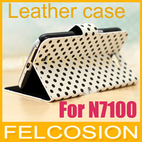 leather case for samsung Galaxy Note 2 ii N7100 /mobile phone protective case Cover N7108