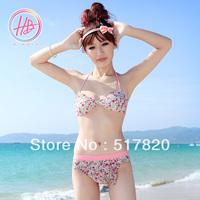 New Free shipping korean bikini sweetheart sexy bikini 2014 swimming pool beach female swimsuit the bathing suit for the girl