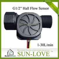 "SL-HZ21FC 6pcs a lot Sensor Water 1-30L/min Food Grade Nylon G1/2"" Threaded End,Free Shiping"