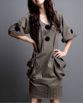 Hot new Spring and Autumn 2013 Slim was lanky waist size dress free shipping