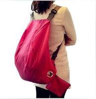 Free shipping Korean version of the multi-function adjustable portable folding bag shoulder bag backpack