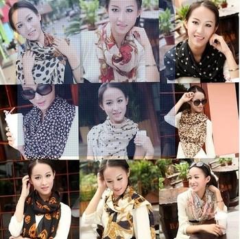(Mix Min order $10) Han edition spring fashion chiffon scarf