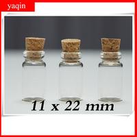 wholesale 24pcs/lot  1ml glass vials vial Glass Bottles small bottles with corks