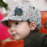 Free shipping 2014 new fashion arrival lovely fish print baby baseball caps child hat spring and autumn kids sun hat sunbonnet