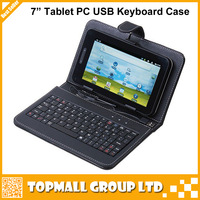 "USB Keyboard Leather Cover Case Bag for 7"" Tablet PC MID PDA VIA 8650,Free Shipping + Drop Shipping"