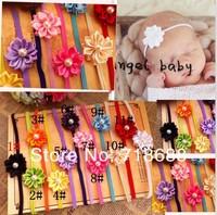 Hot Saling Baby Elastic Flower Hair Band Infant Toddler Headbands Girl 30pcs/lot