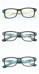 VINTAGE EYEGLASS FRAMES BLACK WHITE BLUE GLASSES MEN & WOMEN EYEGLASSES NON-PRESCRIPTION LENSES RETRO FULL-RIM(China (Mainland))