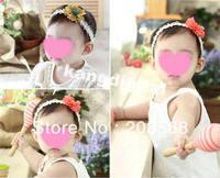New arrival Cute Kid Baby Girls Headband Hairband Hair Bow Flower Clip Elasticity Headwear