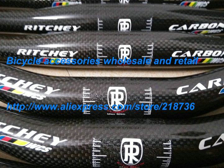 Ritchey wcs MTB bicycle handlebar carbon fibre riser / flat handlebar 31.8*600/620/640/660/680mm(China (Mainland))