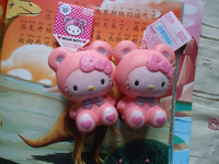 10pcs sanrio cinnamoroll & pink panda & long ear rabbit squishy