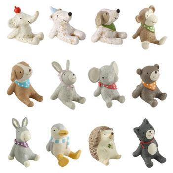 Mini resin small animal derlook props zakka gift for kids, home decoration