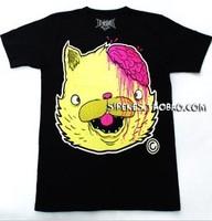 free shipping Drop dead Men owl neon powder big cat t-shirt short-sleeve tee  drop  shipping