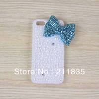 Handmade 3D Bow Pearl Case Cover For iPhone 5 5g 5th