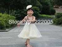 summer dress 2014 hot sale hight quality cheetah with ivory ruffle pettidress girl  christening dress