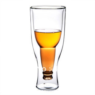 Eco-friendly glass beer bottle cup fruit juice milk green flowers and fruits tea cup(China (Mainland))