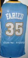 Free Shipping!!! #35 Kenneth Faried white jersey , Embroidered Logo ( all name number stitched!!)