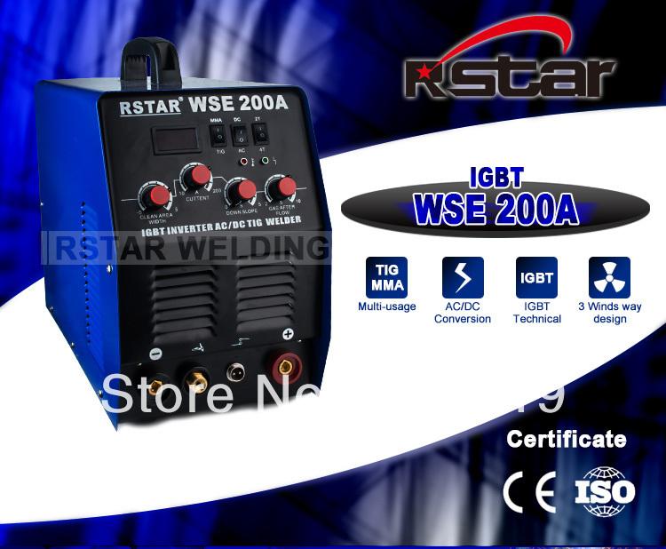 WSE-200 INVERTER IGBT technology AC/DC TIG welder and ARC welding machine free shipping(China (Mainland))