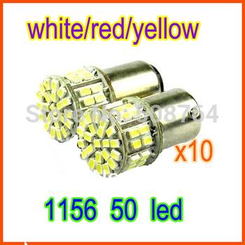 Free shipping 4pcs S25 1156 ba15s p21w 1206 50SMD 50 leds Turning Lamp Brake Tail Light