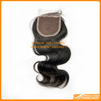 "Cheapest virgin brazilian hair top closures 4""x4""swiss lace closure  bleached knots body wave  hair ,Free shipping"