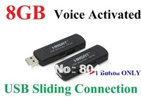 FreeShipping UR-09 (8GB USB Disk Digital Audio Voice Recorder One Button Voice Activated Sliding USB Connection