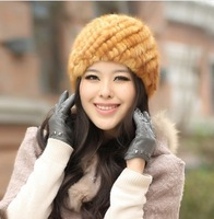 Chopop Fur 2013 Real mink fur hat Beanie ski hat cap head warmer headgear Skull hat womens' hat ladies't hat good gift 7 Colors