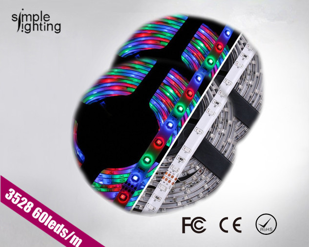 Led string light flexible strip RGB 220V smd 3528 60leds/m 4.8w waterproof 250m/lot lighting lamps for home(China (Mainland))