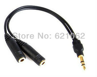 10 Pcs/lot 3.5MM Extension Earphone Headphone Audio Splitter Cable Adapter Male to 2 Female
