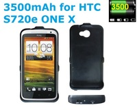 Free Shipping 3500mAh Portable External Backup Battery Charger Case for HTC One X S720e Power Pack Mobile Charger