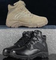 Delta desert boots tactical boots side zipper Sand Black