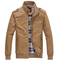 man spring 2014 new men's clothing leather patchwork casual jacket male outerwear .casual jacket M,L,XL,XXL,3XL,4XL,5XL