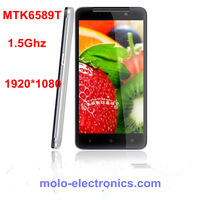 "Newest MTK6589t 1.5Ghz quad core android 4.2 smart phone buttlefly H920+ S5 5"" FHD retina 1920*1080 6589t russian mobile"