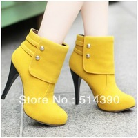 Winter shoes princess motorcycle boots sexy female shoes winter snow boots high-heeled ankle boots for women