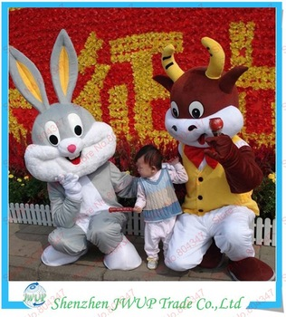 Newest Best Quality Bugs Bunny Cartoon Costume Mr Met Costume Animal Mascot Costumes For Kids Free Shipping