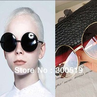 JJ203  Woman Favor Round Shape Lens Arrow Alloy Frame Style Sunglasses Fashion Glasses