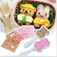 Change baby rice ball mold suit DIY bento sushi machine tools(1set=6pcs)