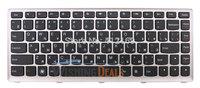 Free Shipping!! Brand New Laptop Keyboard for Lenovo IdeaPad U310 Keyboard RU Rusian black with Silver Frame