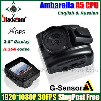 "Ambarella A5 Processor Car Black Box GPS Vehicle Dash Camera Video The Registrar 2.5"" LCD 1920*1080P 30FPS Full HD DVR V5000GS"